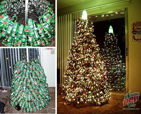 mtdew - How To Make A Wine Bottle Christmas Tree