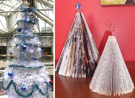paper - Recycled Christmas Tree