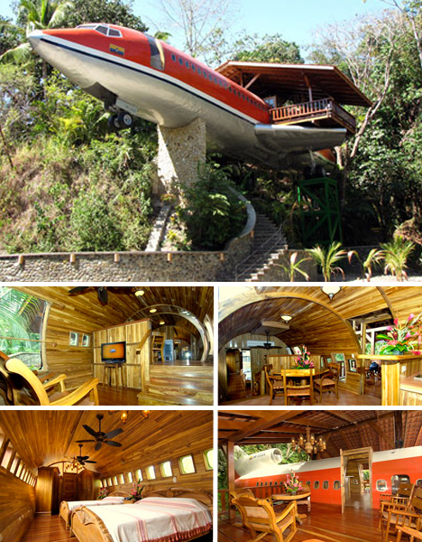 airplane-homes Guest House Made Out Of A Plane on a house as a plane, house built into a plane, han formed into a plane, home made air plane, house made of hay,