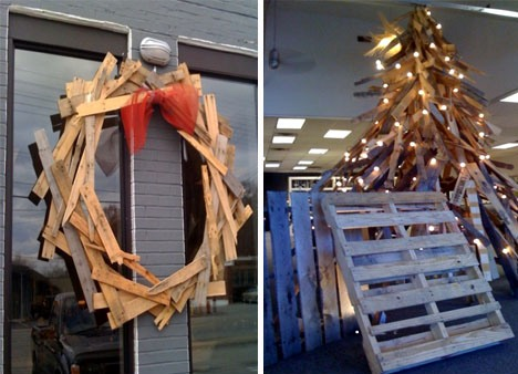 wooden pallet christmas decorations
