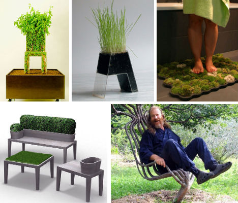 It S Alive 13 Examples Of Green Growing Furniture Webecoist
