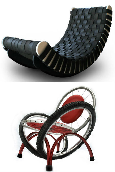 25 rad items made from reclaimed recycled tires webecoist for Made mobili