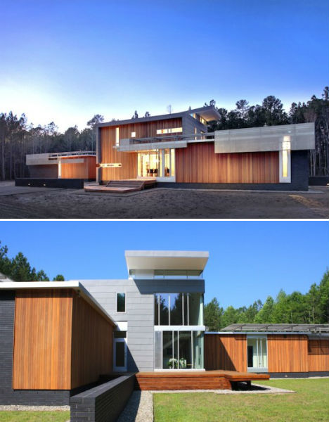 Geothermal architecture getting energy from the earth for Greenville house