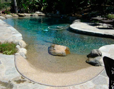 Natural Swimming Pools Backyard Beach