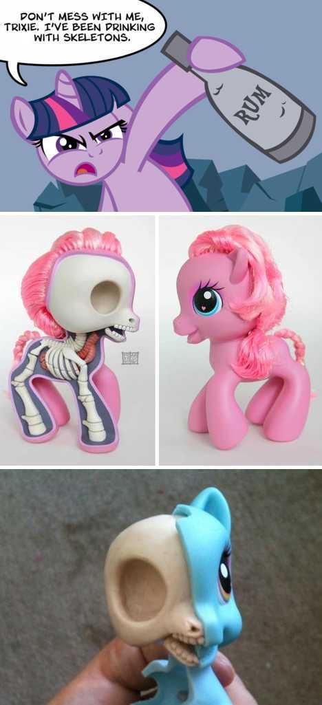 My Little Pony anatomy Jason Freeny - WebEcoist