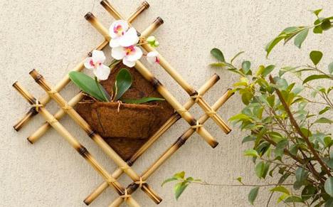 DIY Bamboo Hanging Planter