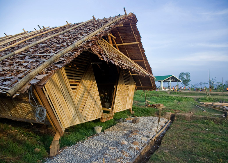 Bamboo Amp Teak Huts Offer Temporary Homes To Thai Refugees