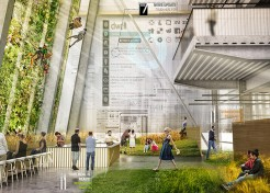 Workplace of the Future Design Features Living Climbing Wall