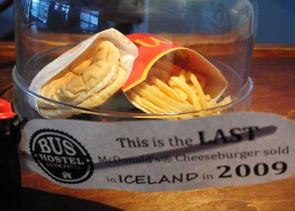Last McDonalds Burger Fries Iceland 7