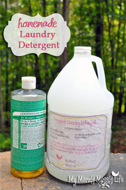 green laundry detergent