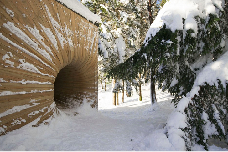 wood tunnel house 3
