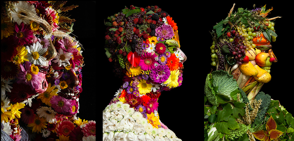 Not-so-edible Art  Portraits Crafted From Food Waste