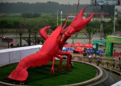 CLAWS: Chinese City's 100-ton Crayfish Statue