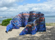 Eco Sculpture by the Sea: Pavilion Made of 70,000 Bottle Caps