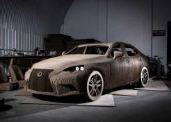 Cardboard Lexus Is One Big Crumple Zone