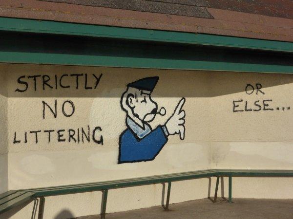Litteracy: Creative International No-Littering Signs